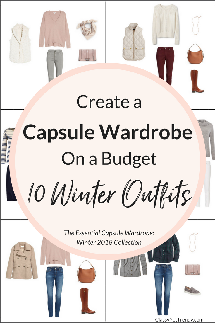 Essential Capsule Wardrobe - 10 Winter 2018 Outfits