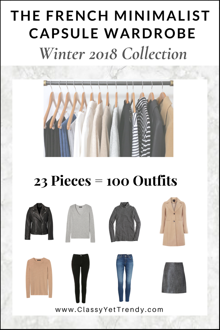 French Minimalist Capsule Wardrobe Winter 2018