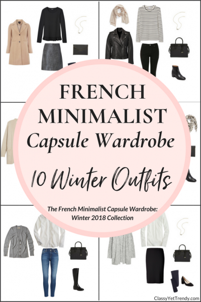 Create a French Minimalist Capsule Wardrobe: 10 Winter Outfits (2017/2018)