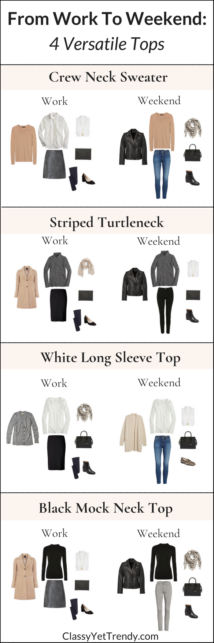From Work To Weekend - 4 Versatile Tops