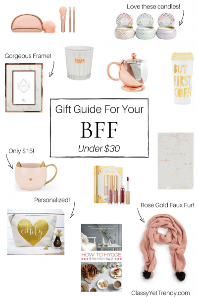 Gift Guide - For Your BFF Under $30