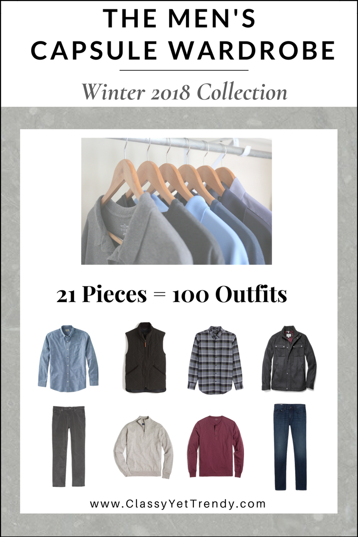 Mens Winter 2018 Capsule Wardrobe eBook