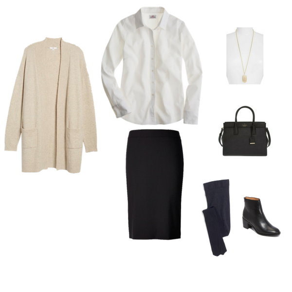 French Minimalist Capsule Wardrobe - Winter 2018 - Outfit 96