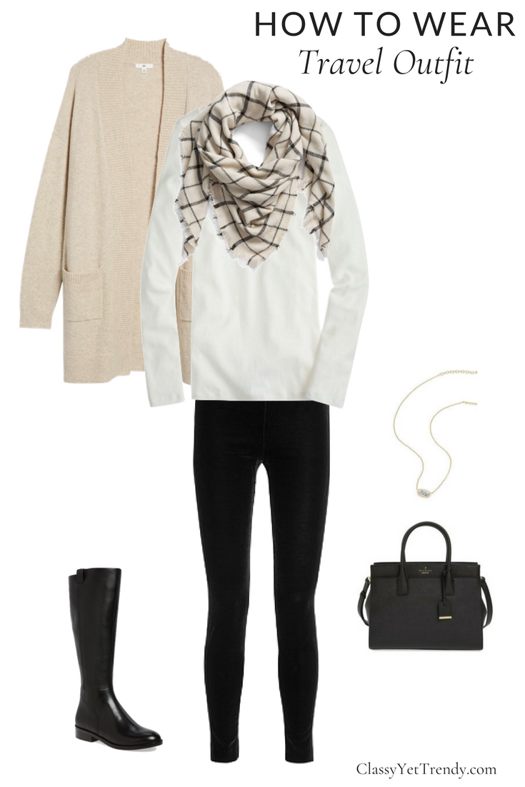 How to Wear - Winter Travel Outfit
