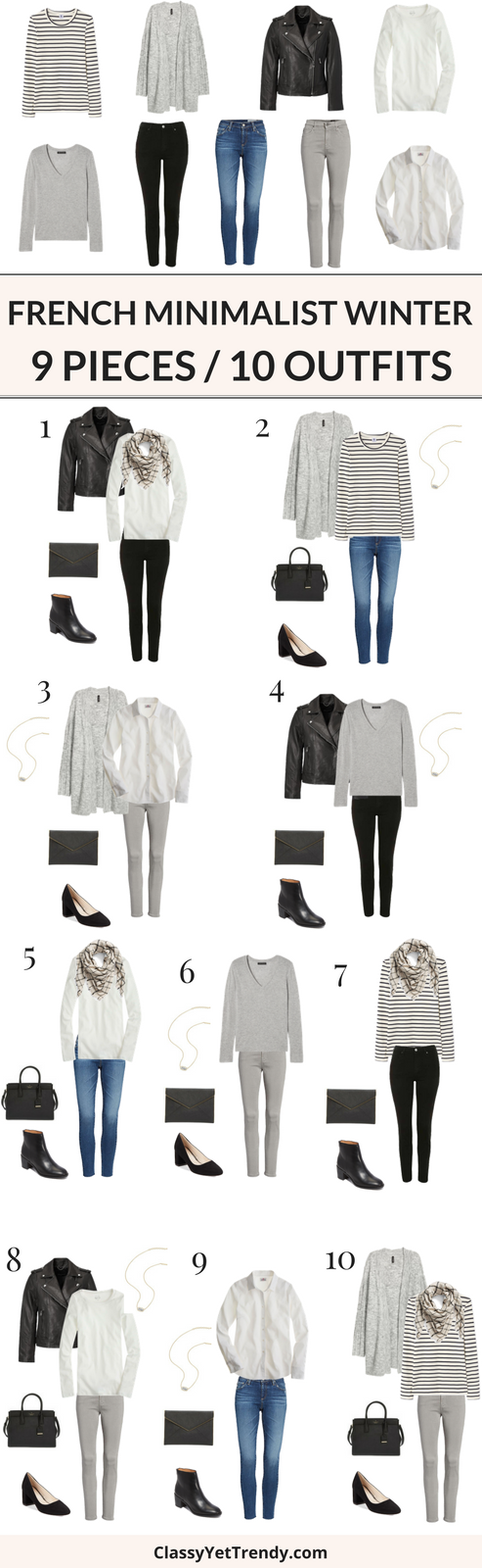 9 Pieces 10 Outfits (French Minimalist Style Winter)