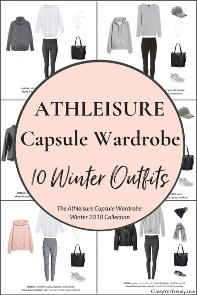 Athleisure Capsule Wardrobe 10 Winter 2018 Outfits