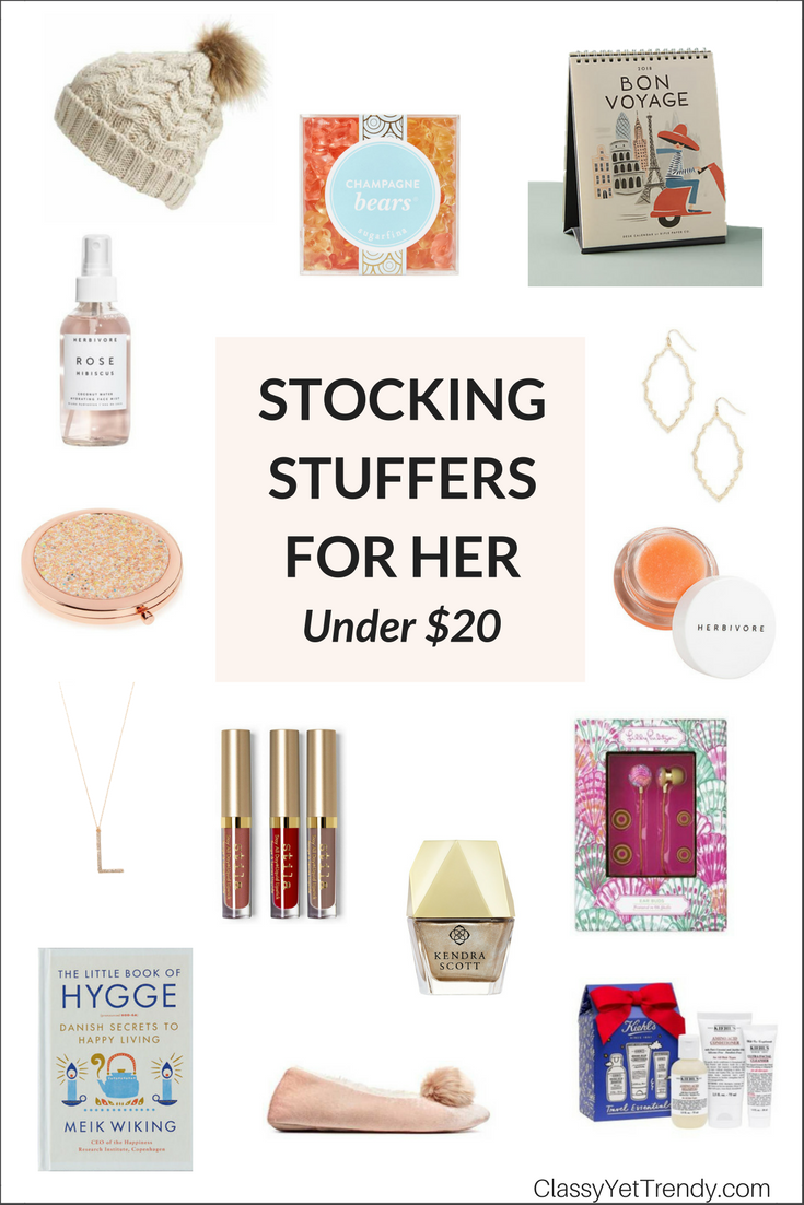 Gift Guide - Stocking Stuffers For Her Under $20