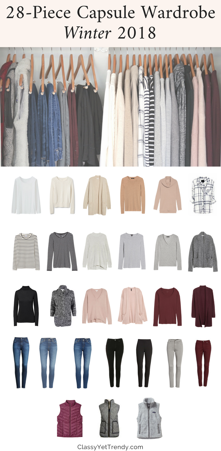 My Winter 2017-2018 Capsule Wardrobe