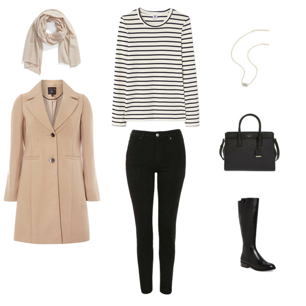 French Minimalist Capsule Wardrobe - Winter 2018 - Outfit 1