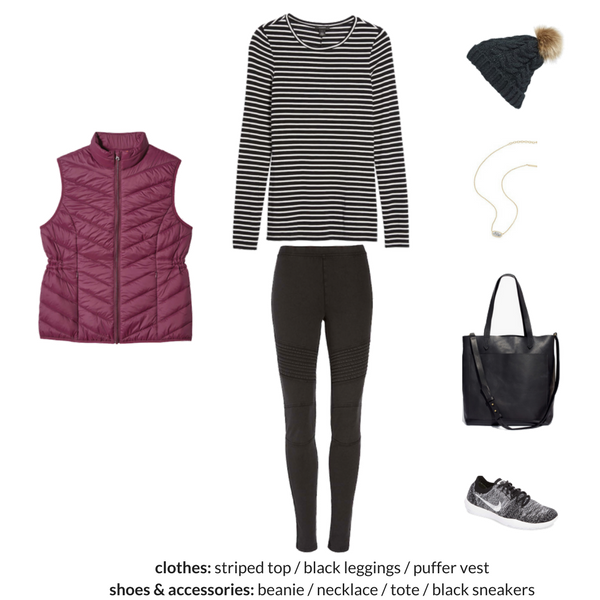 ATHLEISURE Capsule Wardrobe Winter 2018 Outfit 7
