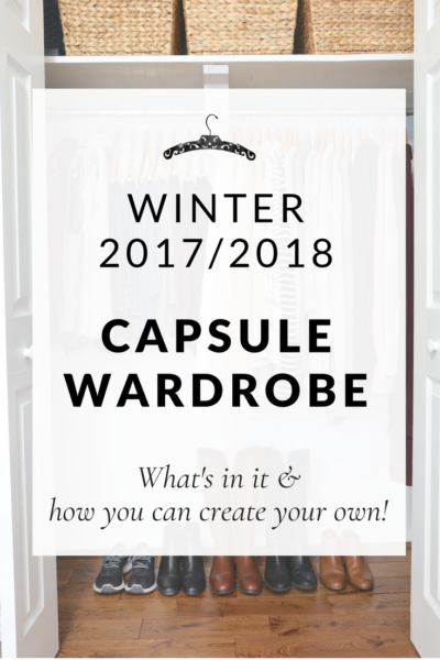 Winter 2017-2018 Capsule Wardrobe