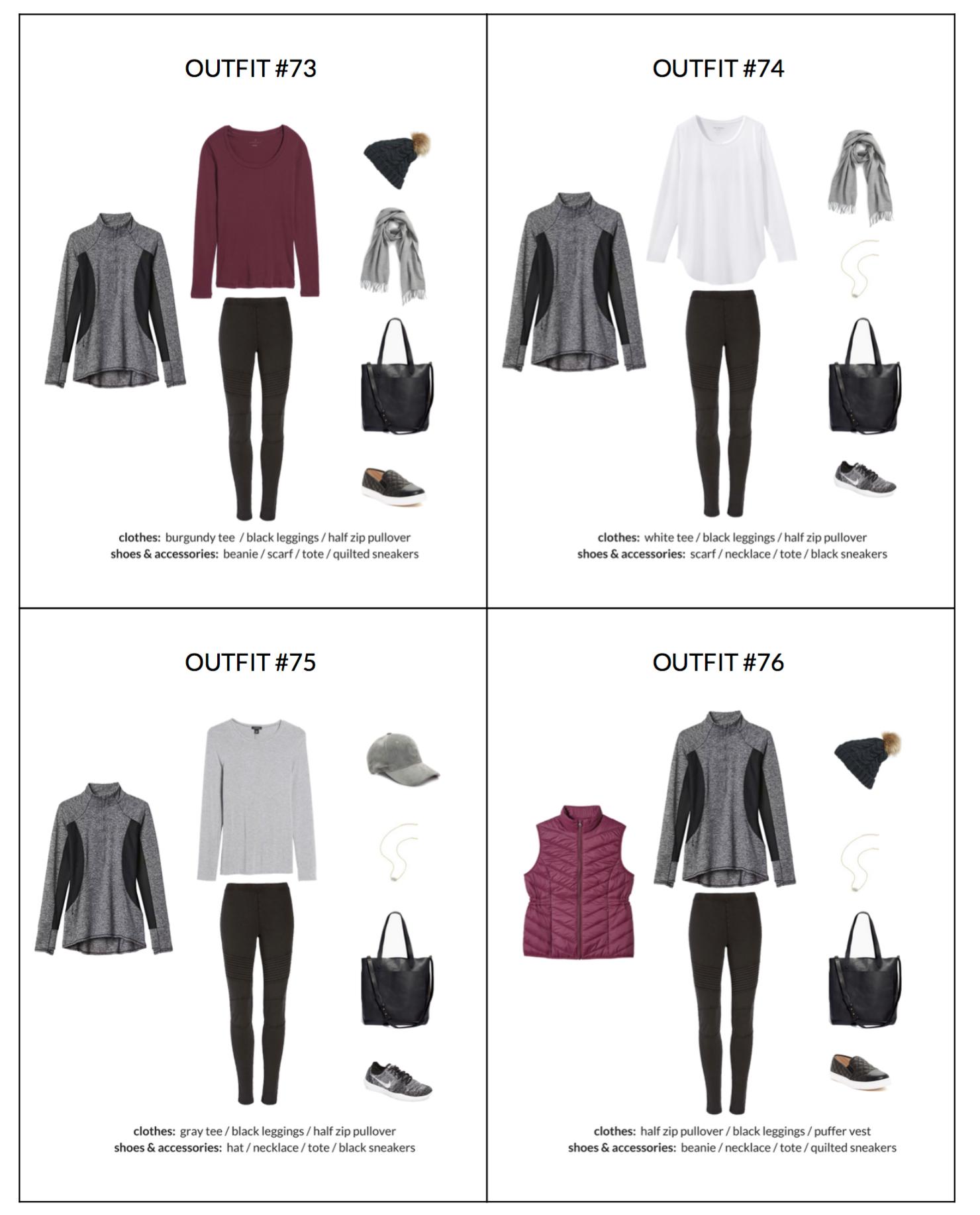 ATHLEISURE Capsule Wardrobe Winter 2018 Sample page 2