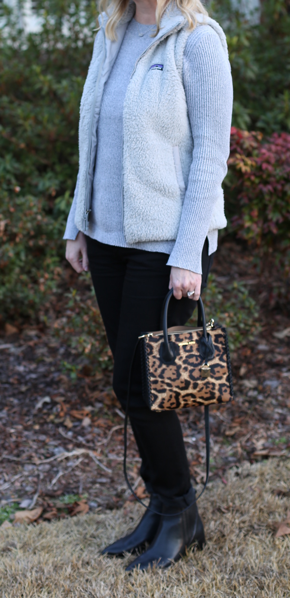 Black Gray and Leopard Outfit