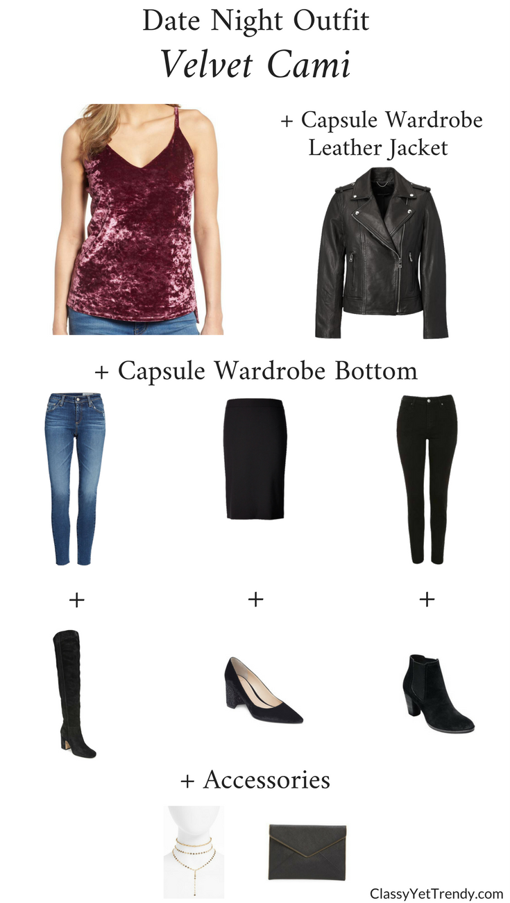 Date Night Outfit Special Occasion Outfit - Velvet Cami