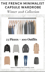 The French Minimalist Capsule Wardrobe: Winter 2018 Collection
