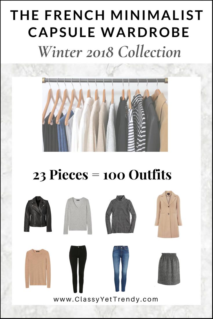 The French Minimalist Capsule Wardrobe Winter 2017 2018