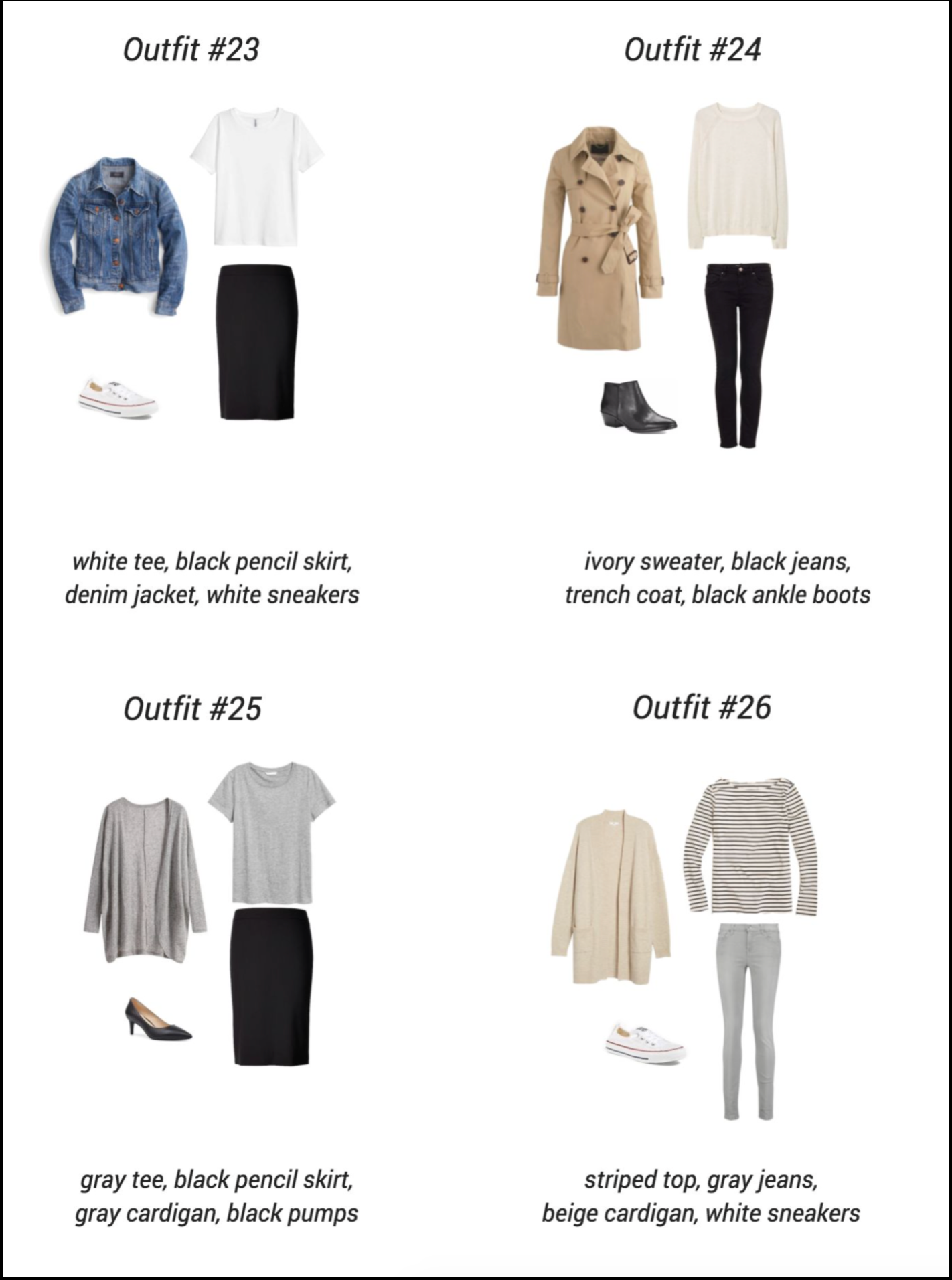 The Essential Capsule Closet - outfits--