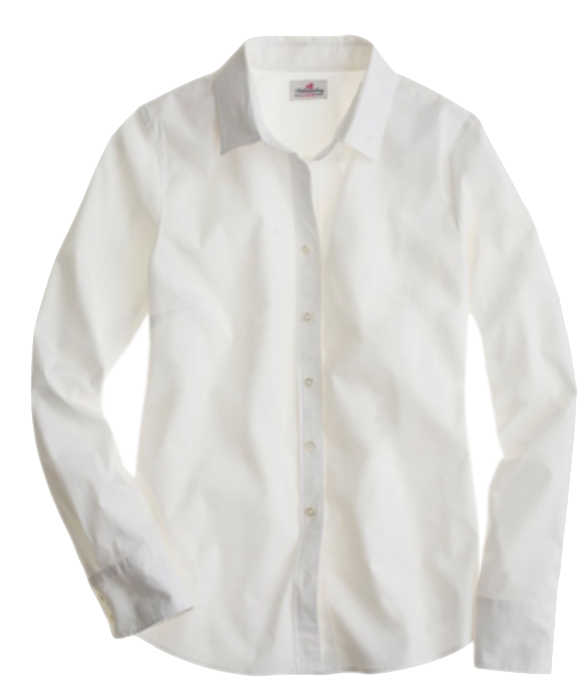 TOP - WHITE BUTTON UP SHIRT