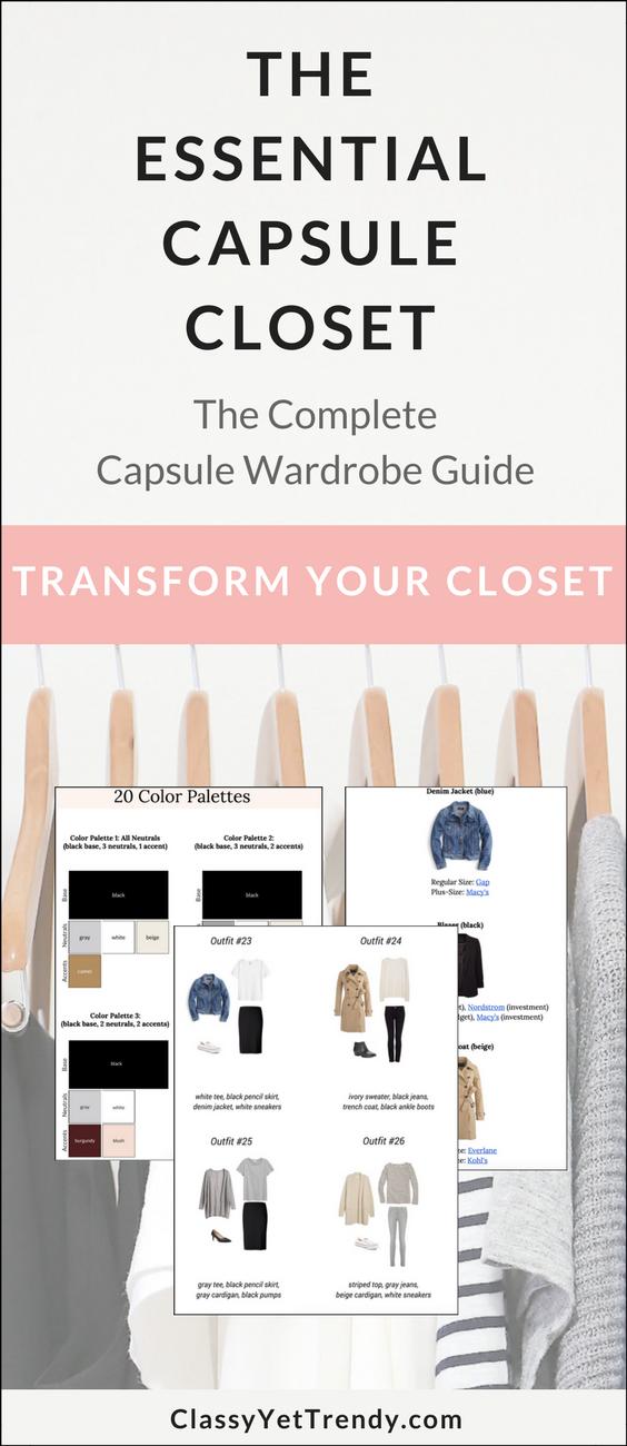 The Essential Closet Capsule - Comment créer votre propre garde-robe