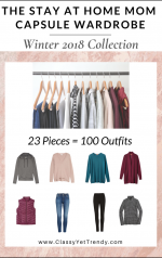 The Stay At Home Mom Capsule Wardrobe: Winter 2018 Collection