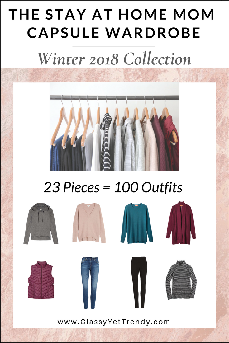 The Stay At Home Mom Capsule Wardrobe Winter 2018 eBook Cover