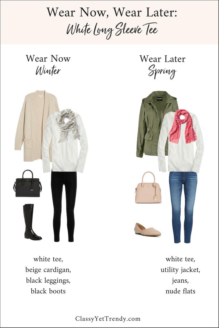 Wear Now Wear Later - White Long Sleeve Tee