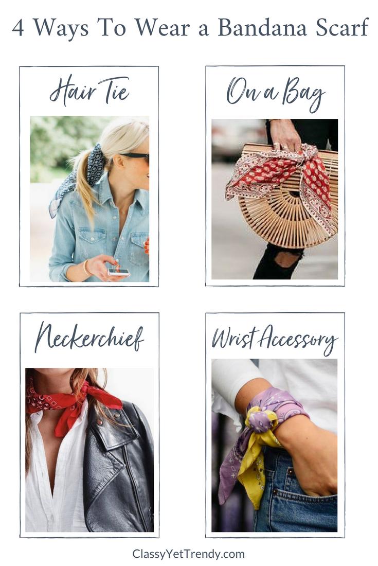 4 Ways To Wear a Bandana Scarf -