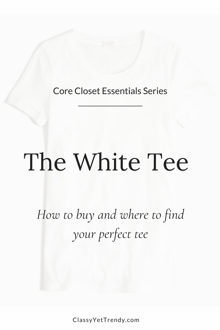 Core Closet Essentials Series - The White Tee