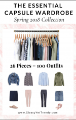 The Essential Capsule Wardrobe: Spring 2018 Collection