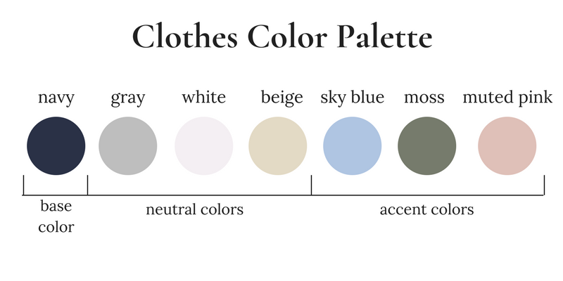 The Essential Capsule Wardrobe Spring 2018 Color Palette