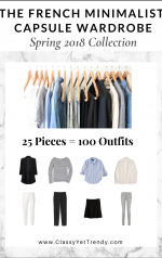 The French Minimalist Capsule Wardrobe: Spring 2018 Collection