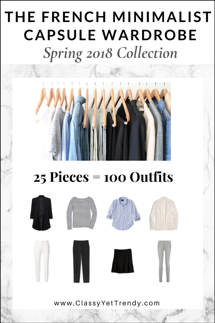 French Minimalist Capsule Wardrobe Spring 2018 eBook Cover