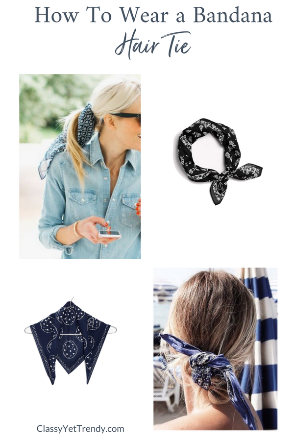 How To Wear a Bandana Scarf - Hair Tie
