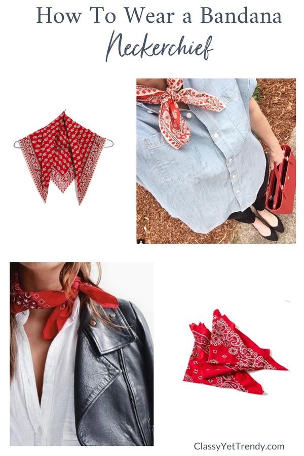 How To Wear a Bandana Scarf - Neckerchief