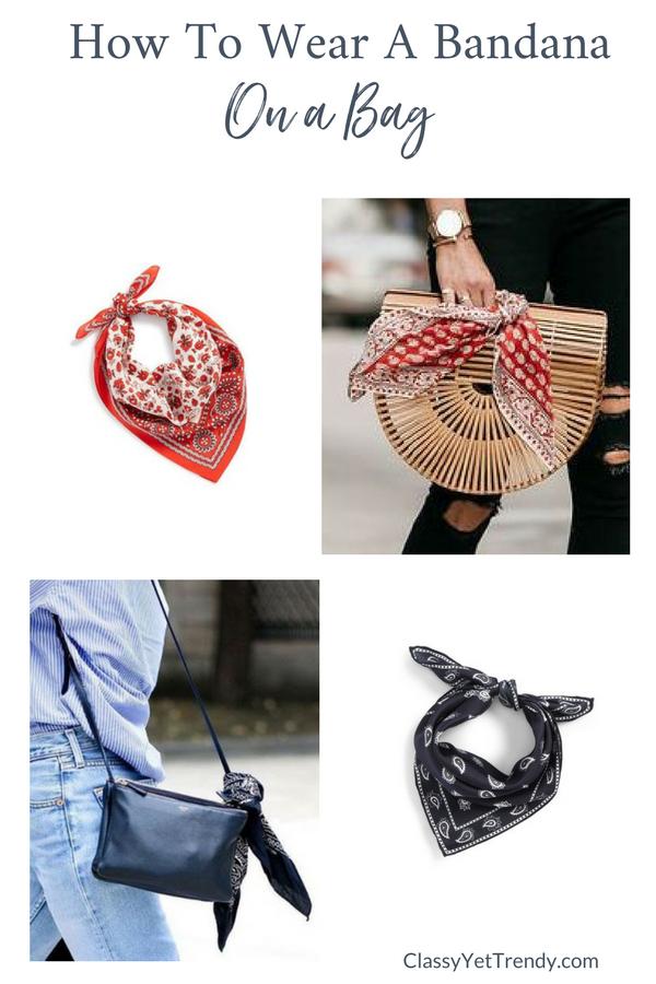 How To Wear a Bandana Scarf - On a Bag