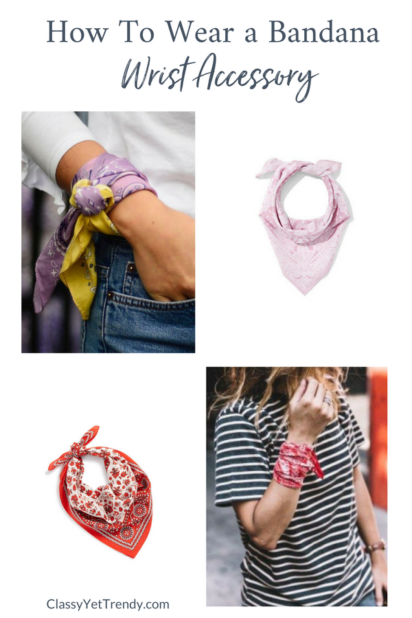 How To Wear a Bandana Scarf - Wrist Accessory