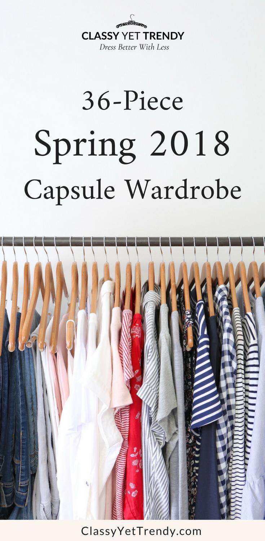My 36-Piece Spring 2018 Capsule Wardrobe