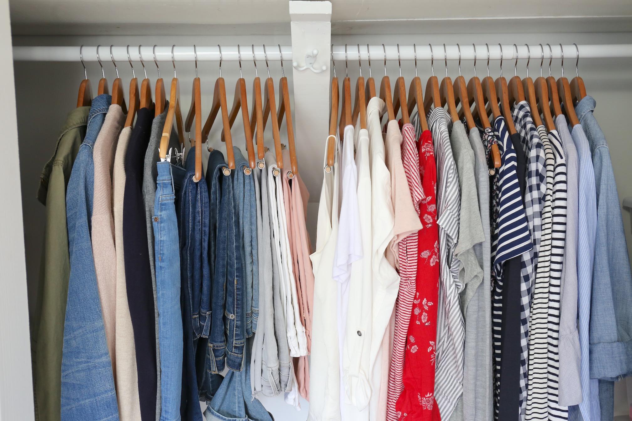My Spring 2018 Capsule Wardrobe - closet closeup full
