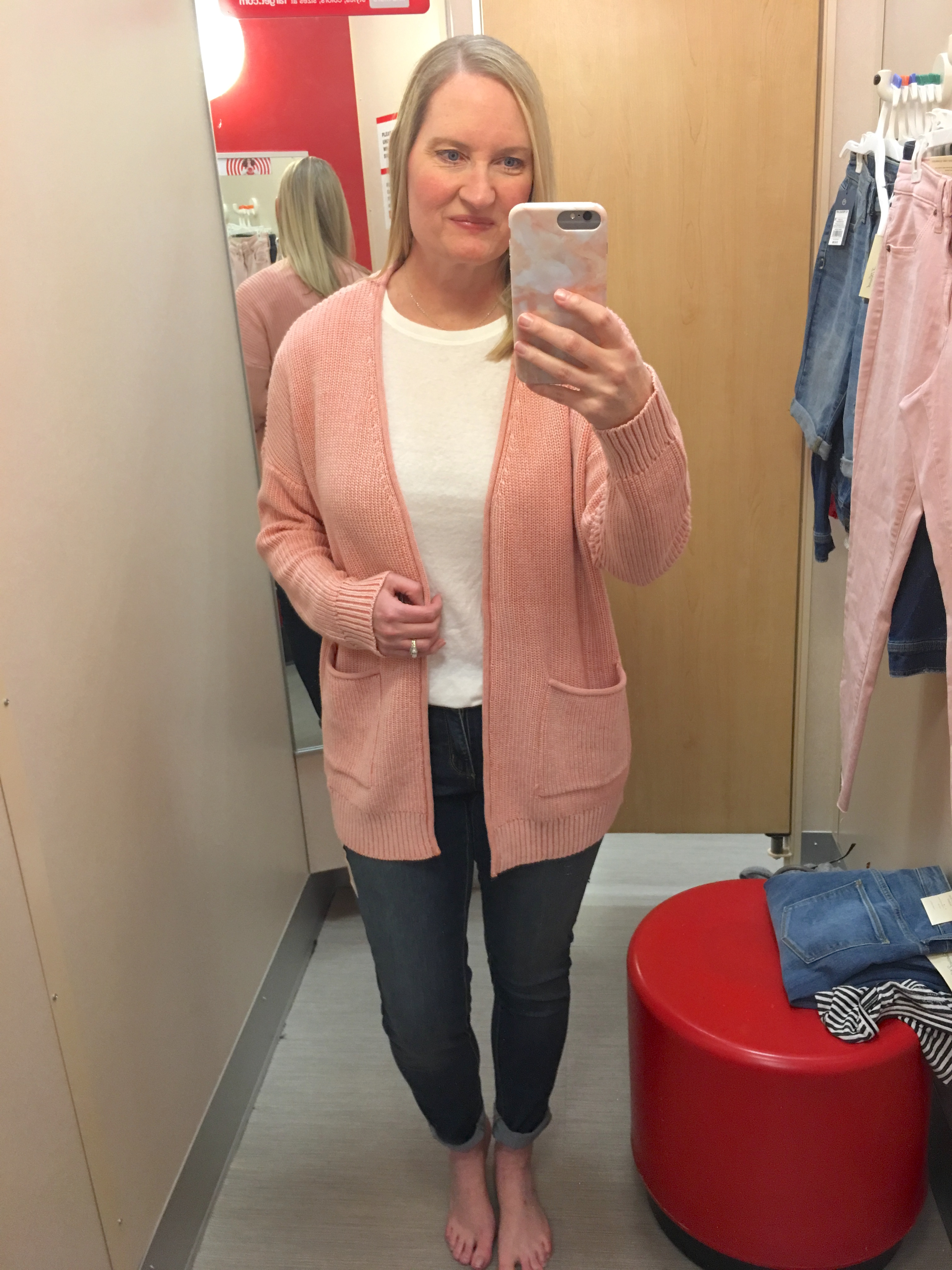 Target Universal Thread Review and Try-Ons Pink Cardigan