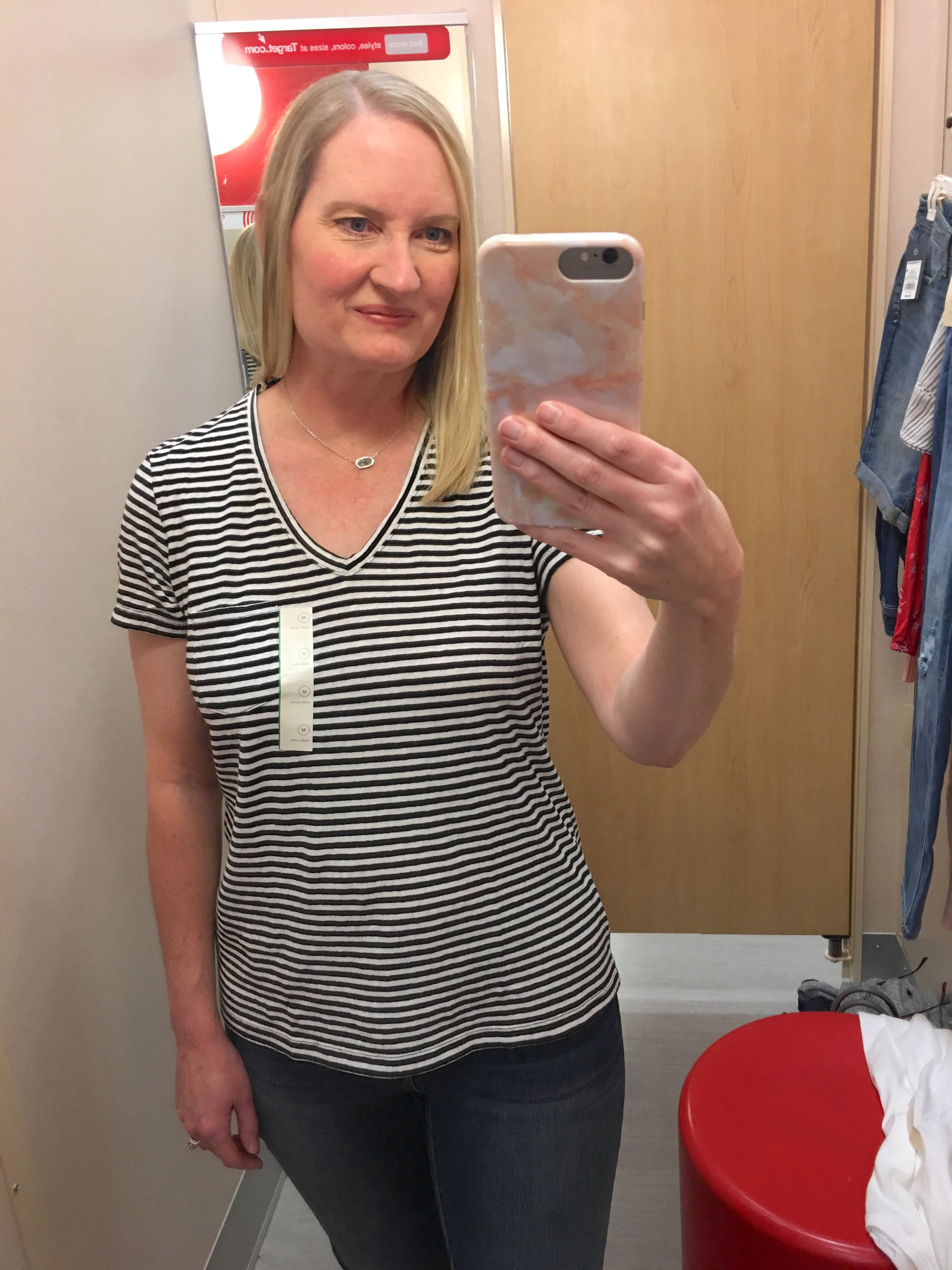Target Universal Thread Review and Try-Ons Black Stripe Top