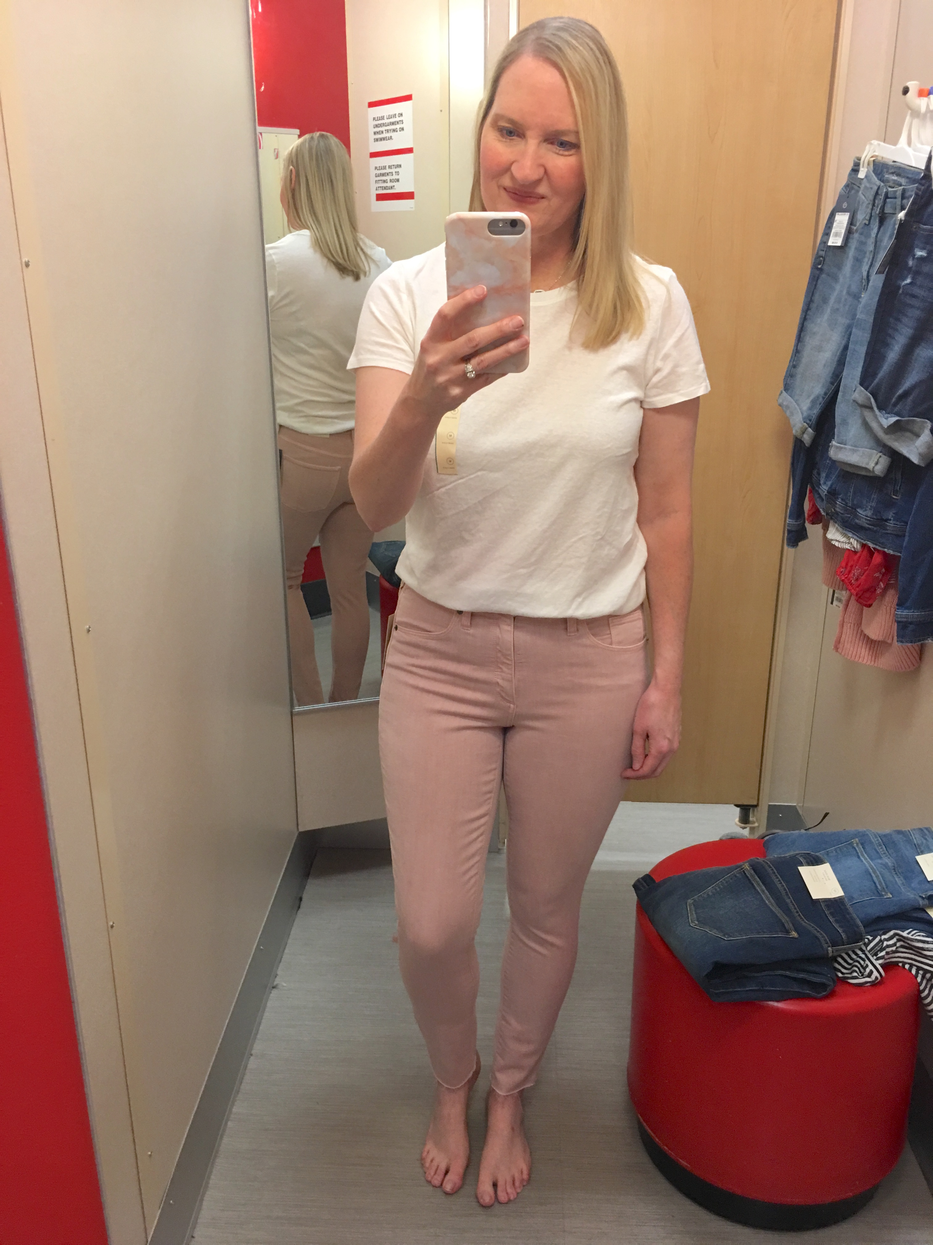 Target Universal Thread Review and Try-Ons Pink Jeans