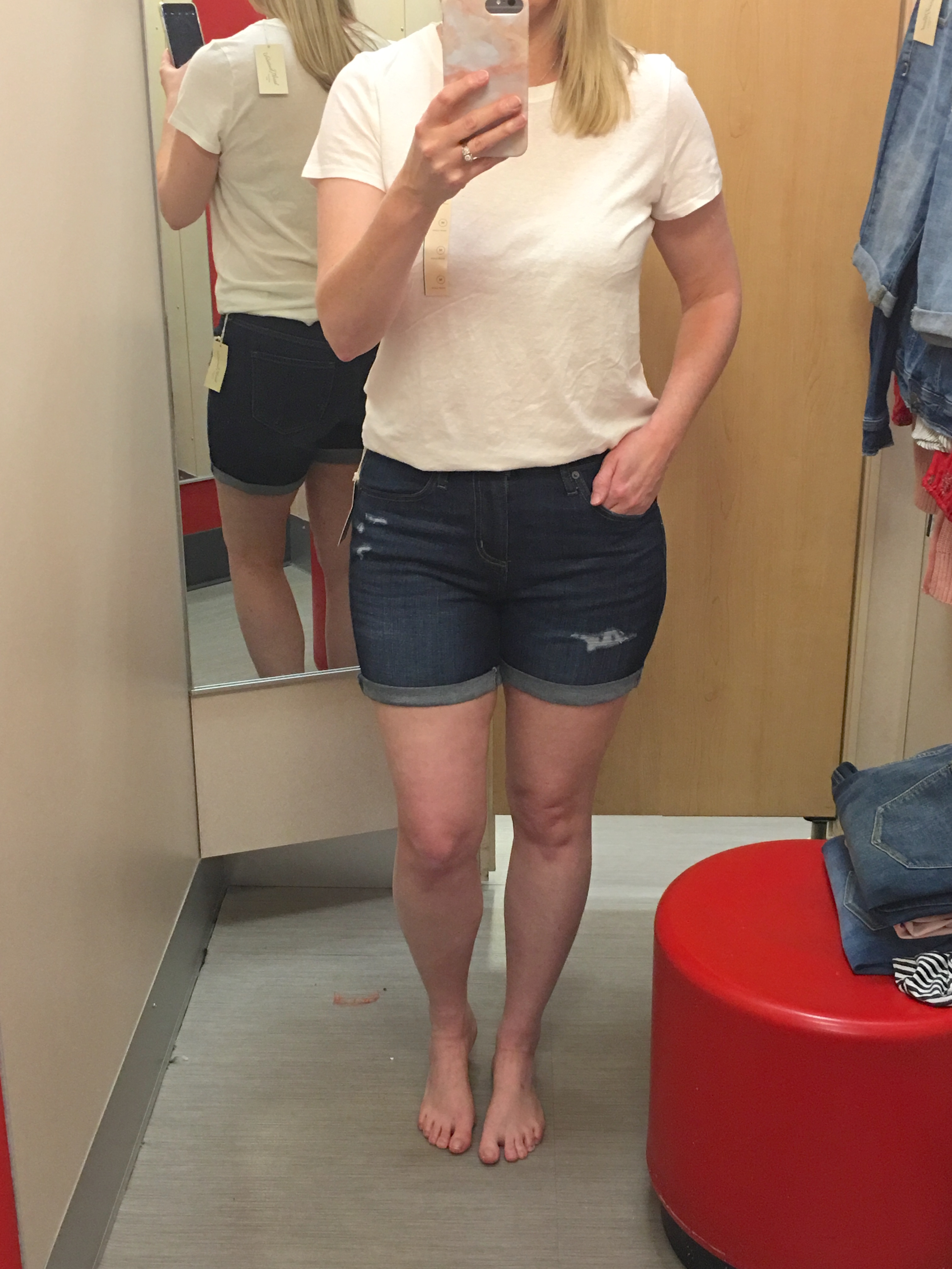 Target Universal Thread Review and Try-Ons Dark Wash Shorts