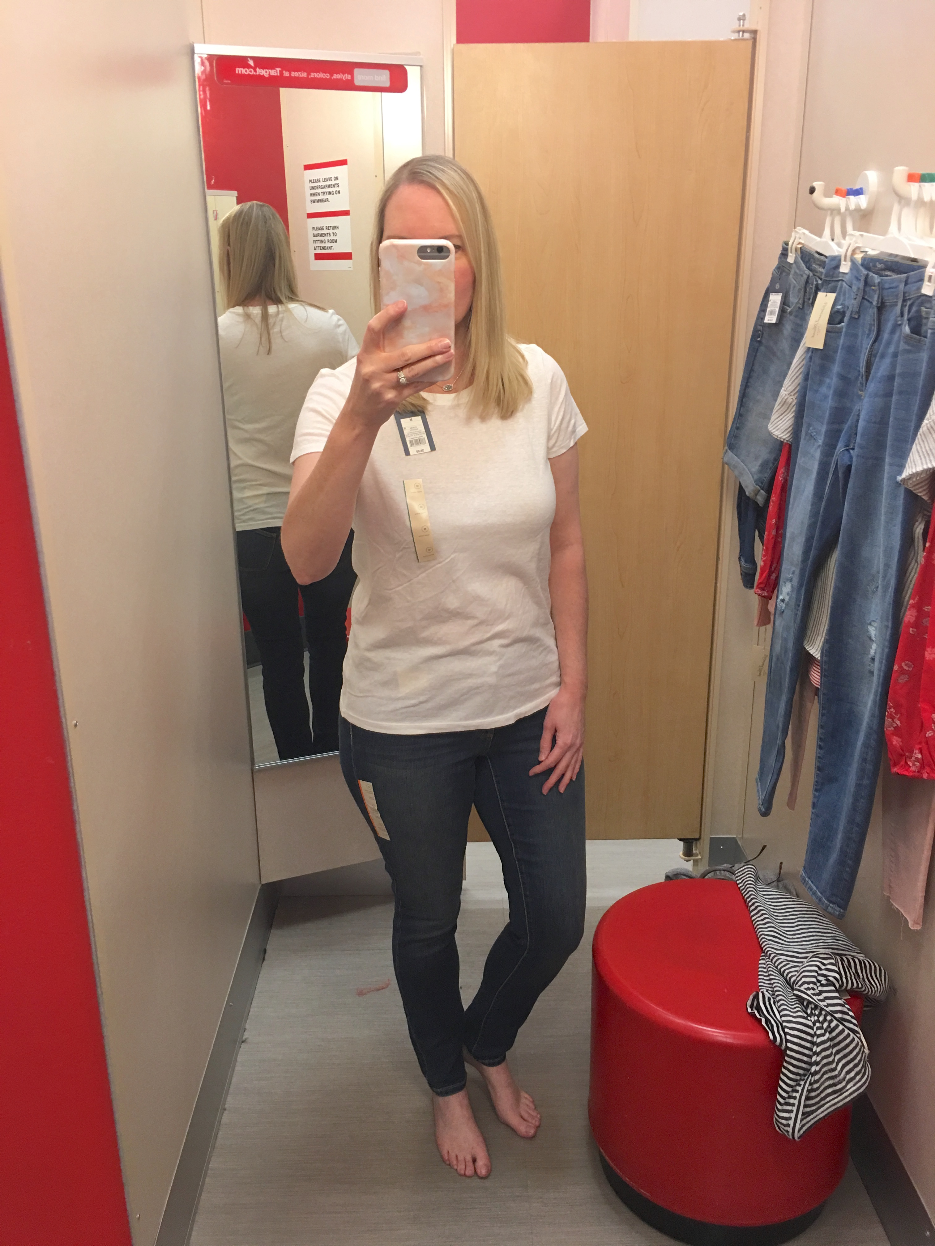 Target Universal Thread Review and Try-Ons White Tee Jeans 1
