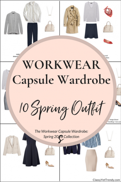 Create a Workwear Capsule Wardrobe: 10 Spring Outfits