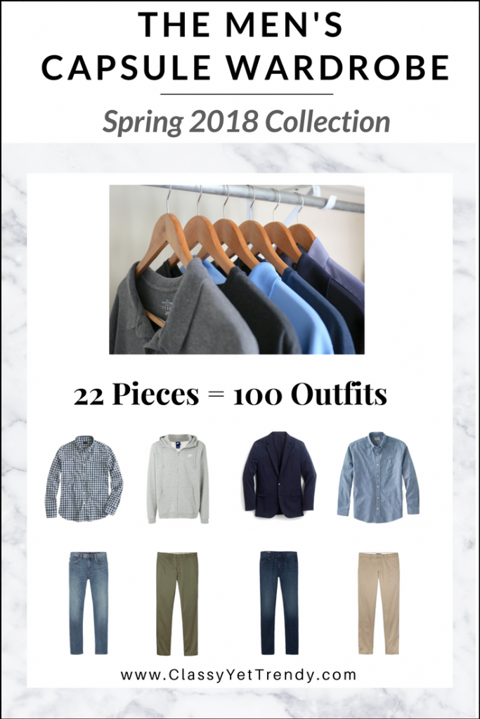 Menswear Capsule Wardrobe Spring 2018 eBook