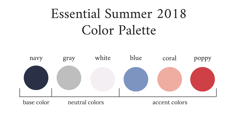 Essential Capsule Wardrobe Summer 2018 Color Palette