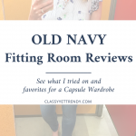 Old Navy Fitting Room Spring Reviews