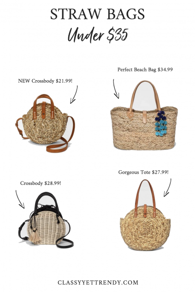 STRAW BAGS UNDER $35