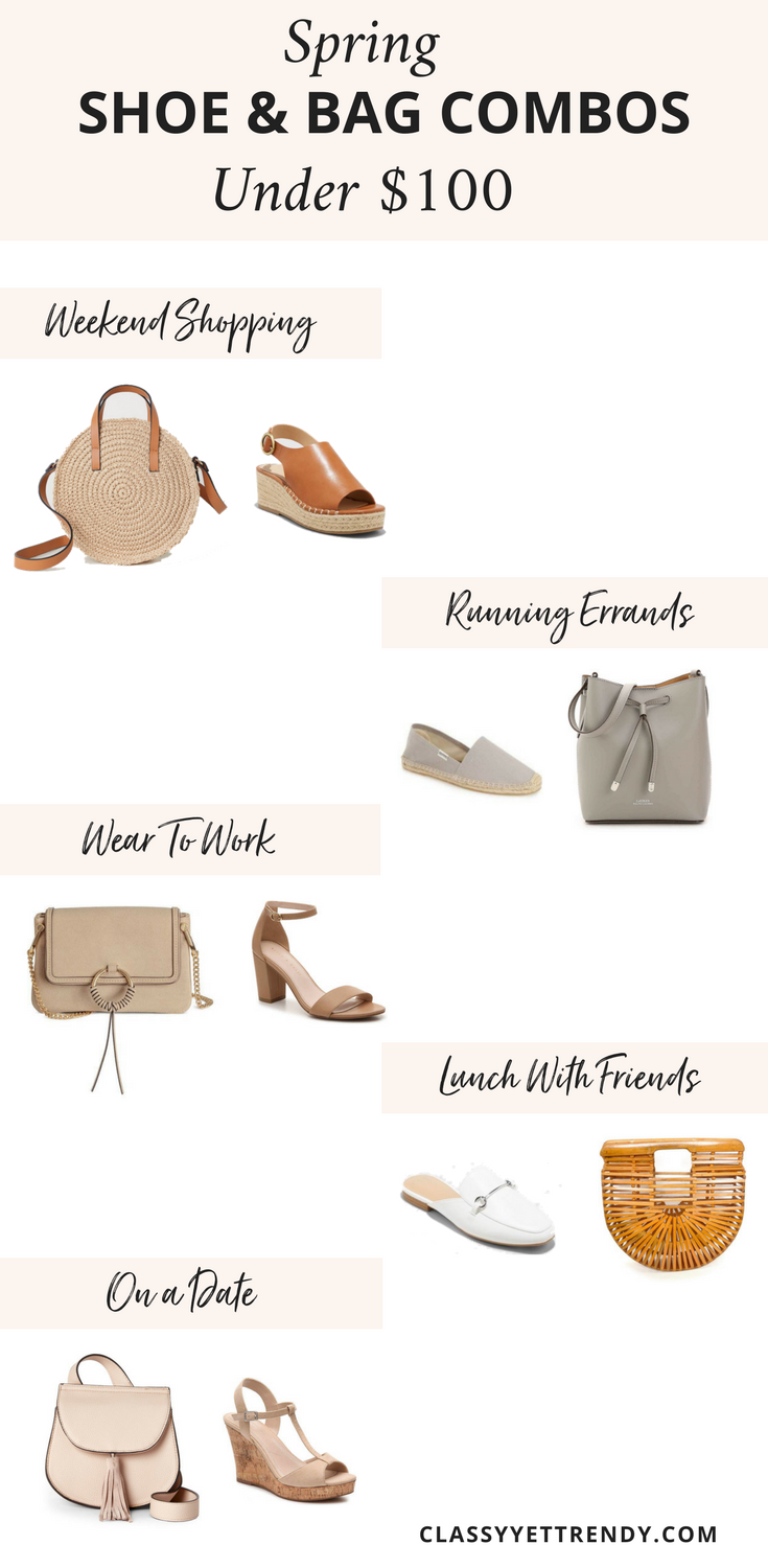 Spring Shoe and Bag Combos Budget Buys Under $100