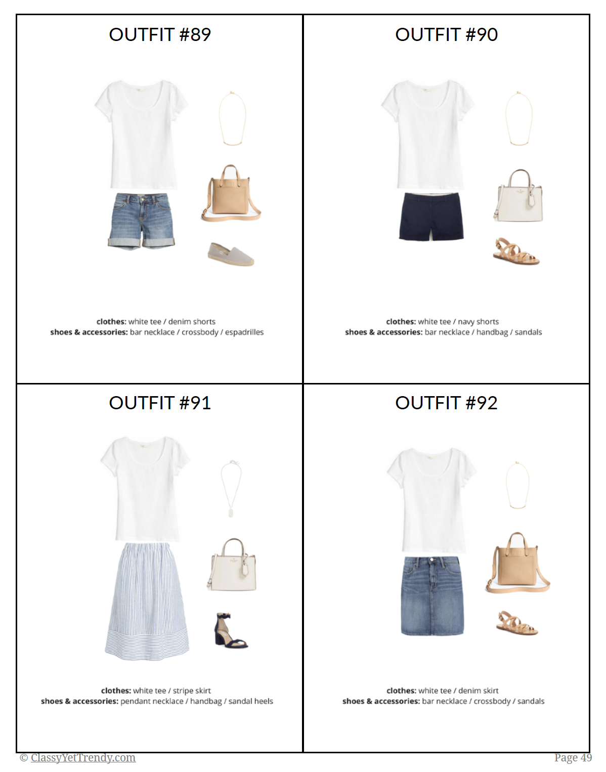 The French Minimalist Capsule Wardrobe - Summer 2018 - sample page 2